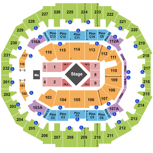 FedExForum seating chart event tickets center