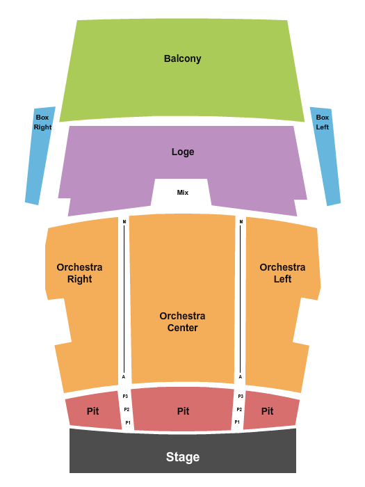 Federal Way Performing Arts & Events Center Seating Chart