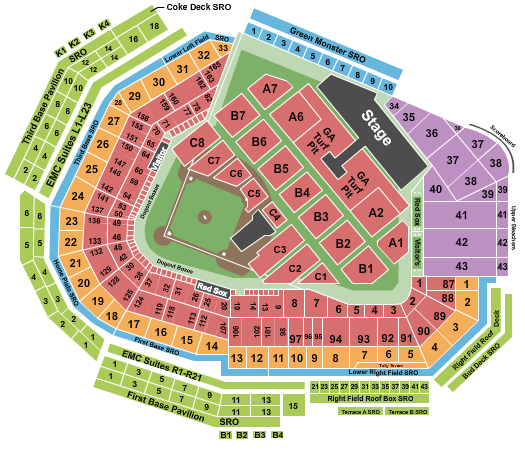 Fenway Park Lady Gaga seating chart - eventticketscenter.com