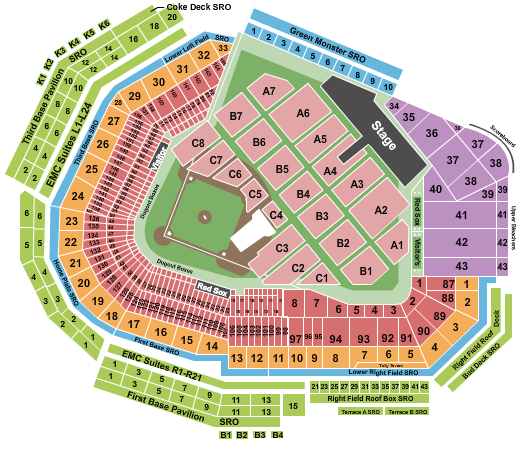 Fenway Park seating chart event tickets center