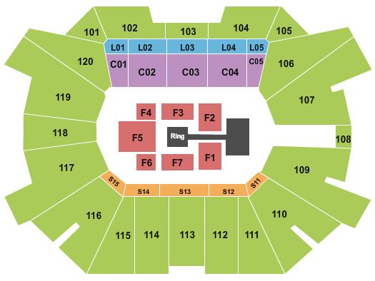 Fertitta Center Seating Map