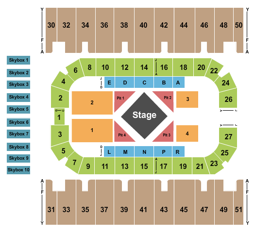 First Interstate Arena Seating Chart