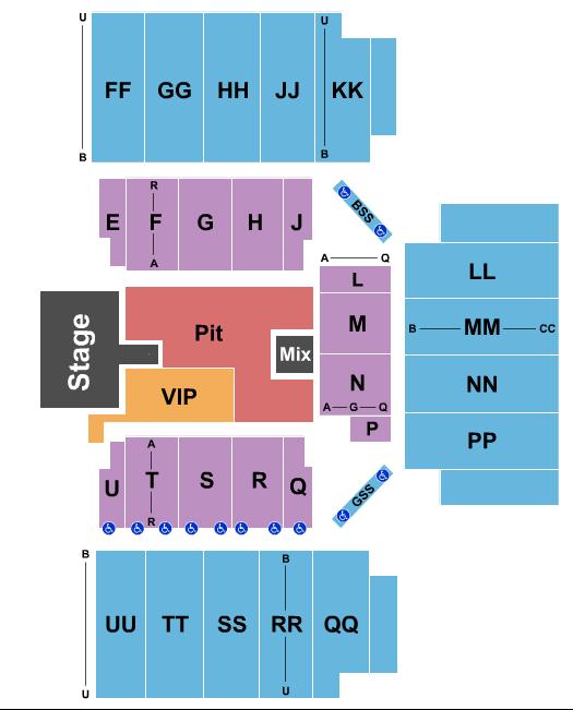 First National Bank Arena Floor Plan