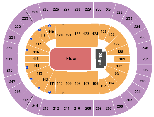 FirstOntario Centre seating chart event tickets center
