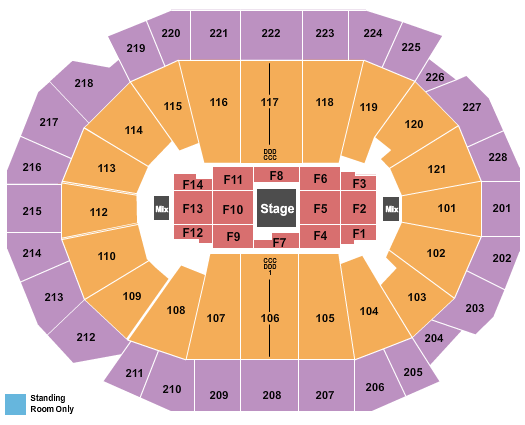 seating chart for Fiserv Forum Joe Rogan - eventticketscenter.com