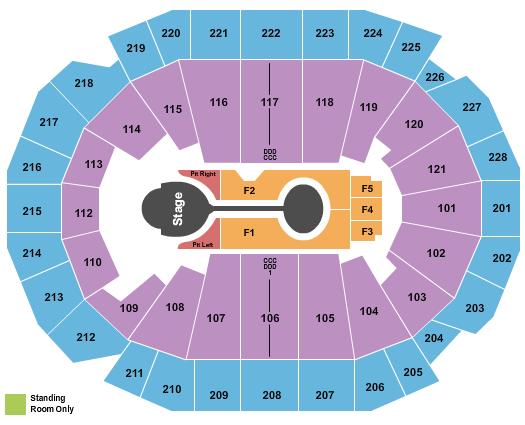 Fiserv Forum seating chart event tickets center