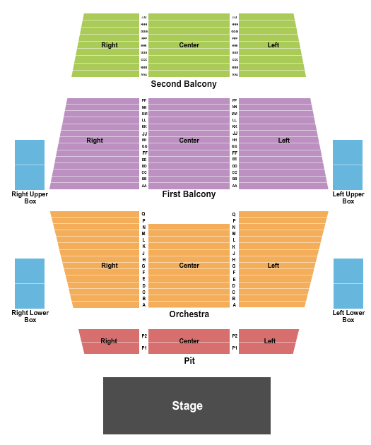 Fitzgerald Theater seating chart event tickets center