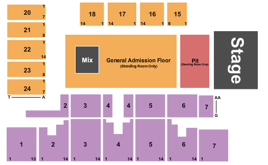 Five Flags Center Seating Chart Dubuque