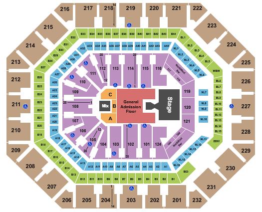 seating chart for Footprint Center Ghost - eventticketscenter.com