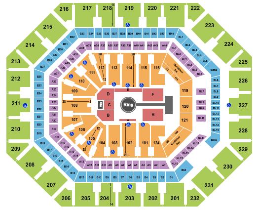seating chart for Footprint Center MMA - eventticketscenter.com