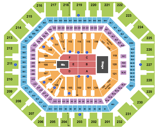 seating chart for Footprint Center TSO - eventticketscenter.com