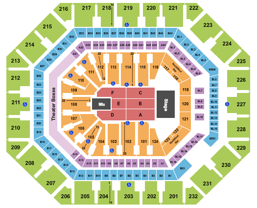 Trans-Siberian Orchestra Footprint Center Seating Chart