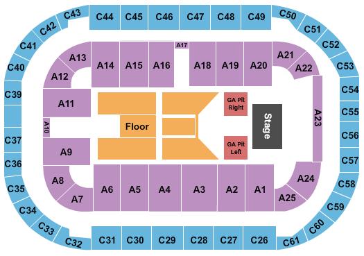 Arena At Ford Idaho Center Floor Plan