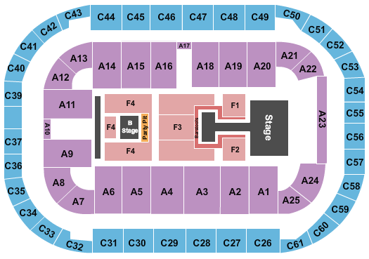 Arena At Ford Idaho Center seating chart event tickets center