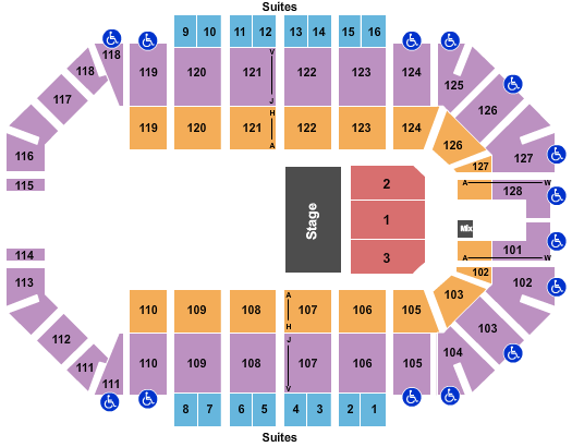 Ford Park Arena Seating Chart