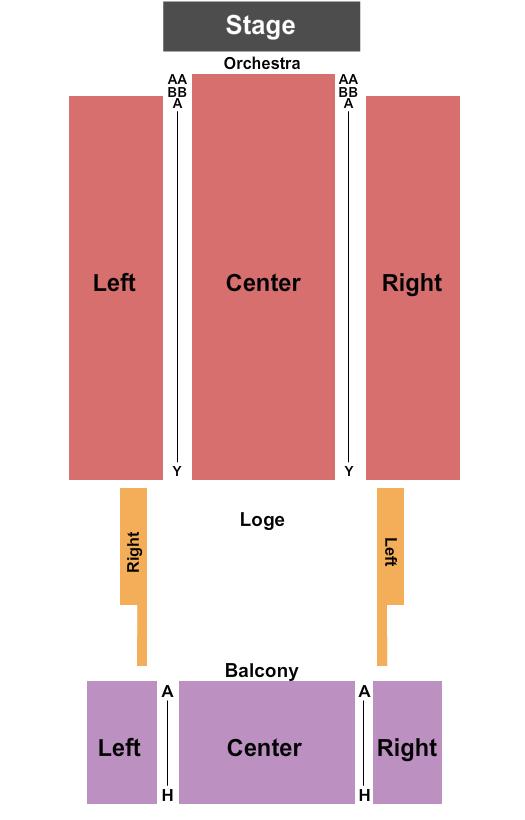 Fostek Hall at Jefferson Center Seating Chart