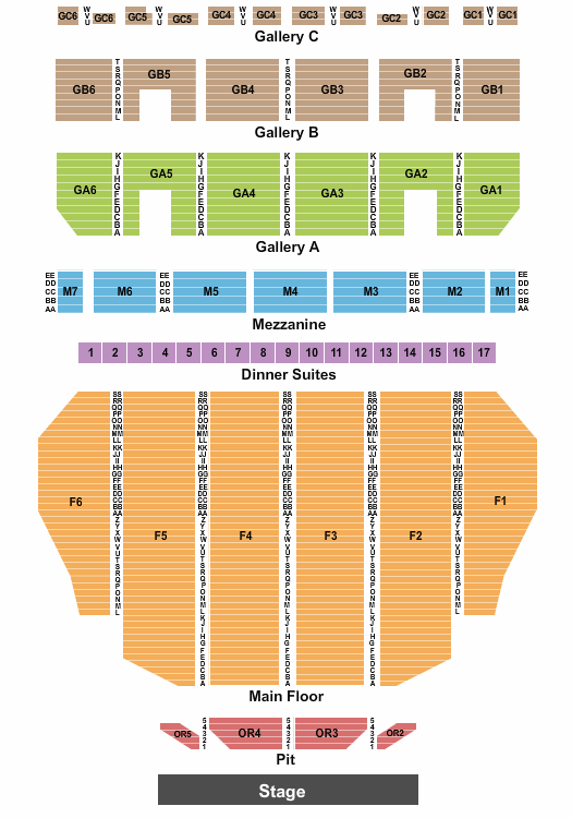 Fox Theatre - Detroit seating chart event tickets center