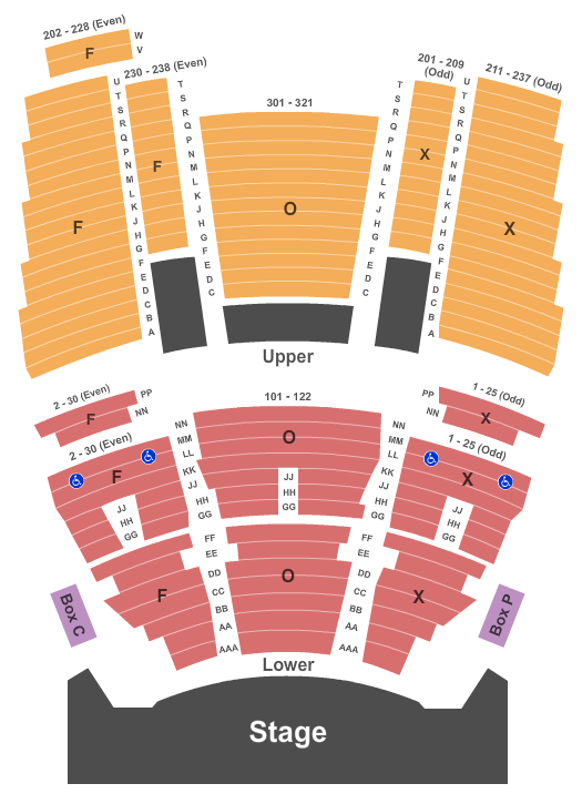 The Fox Theatre at Foxwoods Floor Plan