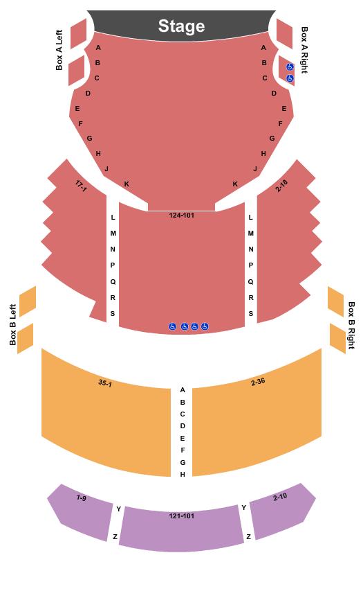 Fulton Opera House Seating Map