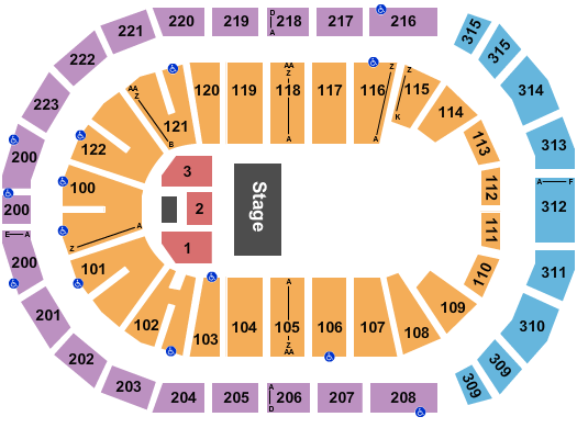 Gas South Arena Seating Chart Plan