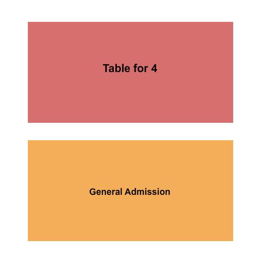seating chart for Diamond Ballroom 4 Top Table - GA - eventticketscenter.com
