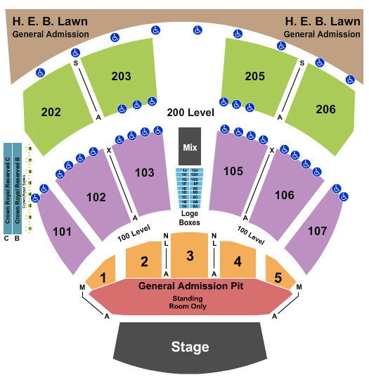 Germania Insurance Amphitheater seating chart event tickets center