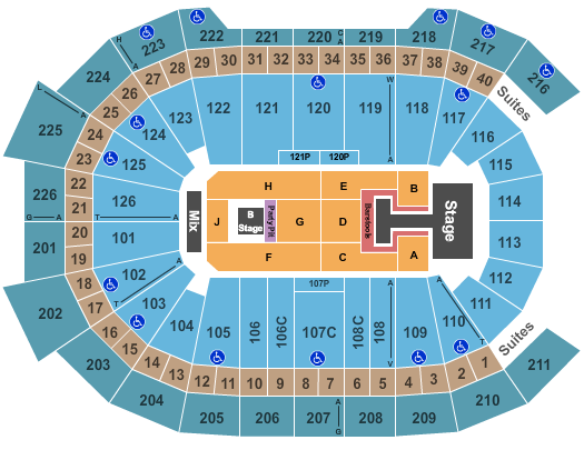 Giant Center seating chart event tickets center