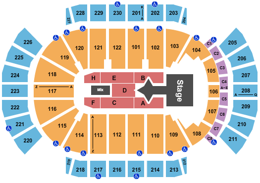 Gila River Arena Floor Plan