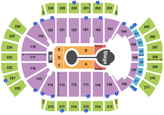 Gila River Arena seating chart event tickets center