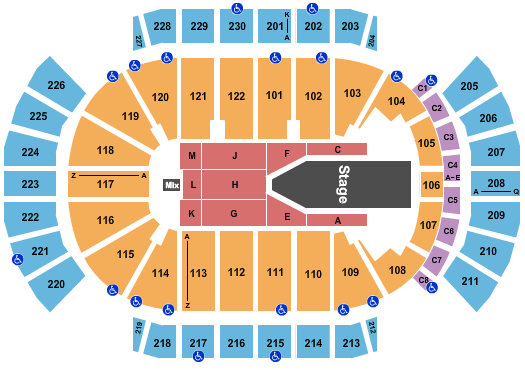 seating chart for Gila River Arena The Weeknd - eventticketscenter.com