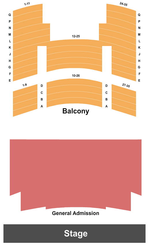 Gillioz Theatre seating chart event tickets center