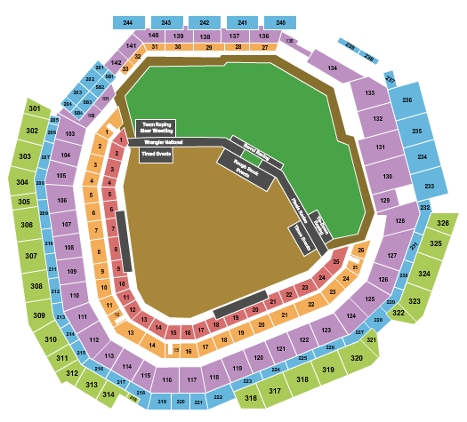 Globe Life Field seating chart event tickets center