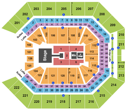 Golden 1 Center Floor Plan