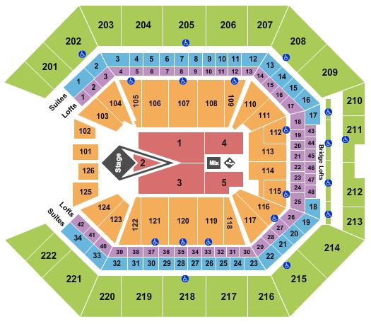 Golden 1 Center seating chart event tickets center