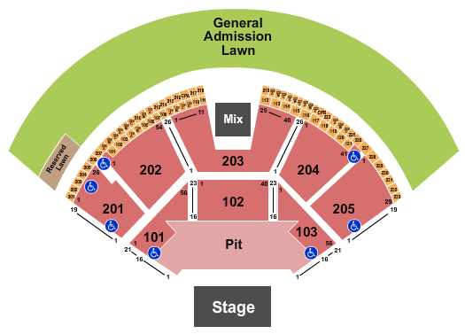 Gorge Amphitheatre seating chart event tickets center