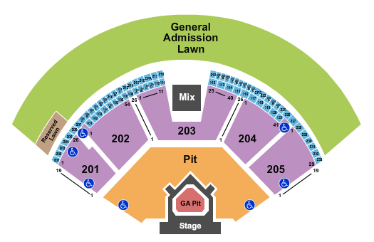 Gorge Amphitheatre The Lumineers seating chart - eventticketscenter.com