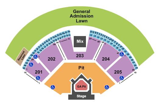 Gorge Amphitheatre Floor Plan