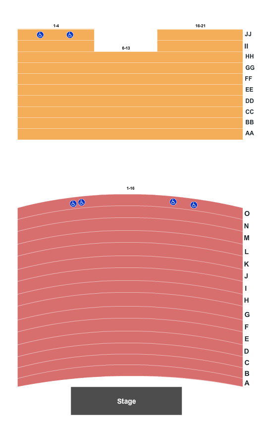 Grand Theatre - Frankfort Seating Chart