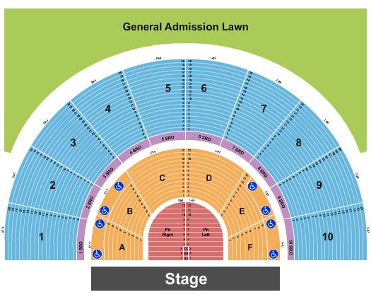 Greek Theatre - U.C. Berkeley seating chart event tickets center