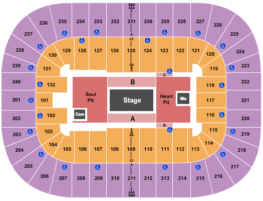 Greensboro Coliseum At Greensboro Coliseum Complex Floor Plan