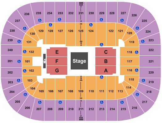 Greensboro Coliseum At Greensboro Coliseum Complex seating chart event tickets center