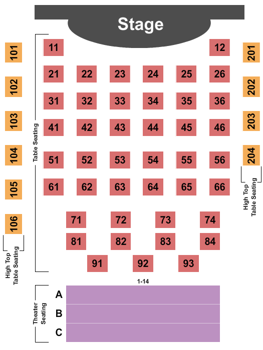 Greer Cabaret Theater Seating Chart