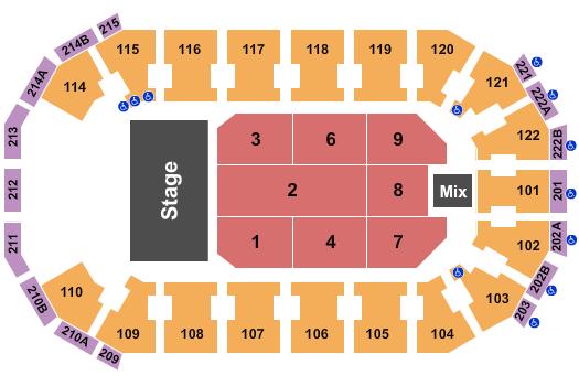 seating chart for HEB Center at Cedar Park Baby Shark Live - eventticketscenter.com