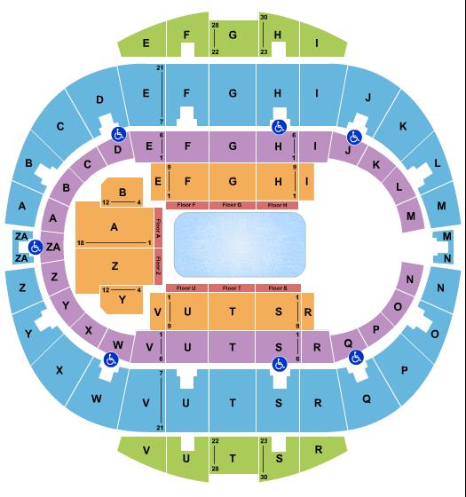 seating chart for Hampton Coliseum Disney On Ice 2 - eventticketscenter.com