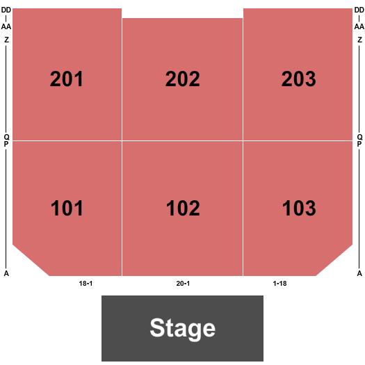 Hard Rock Cincinnati - Ballroom Floor Plan
