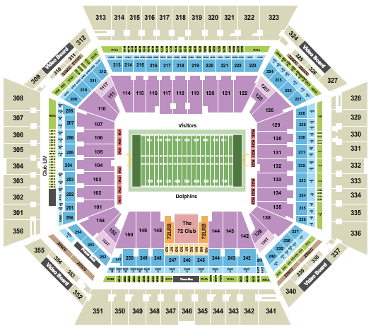 Hard Rock Stadium Floor Plan