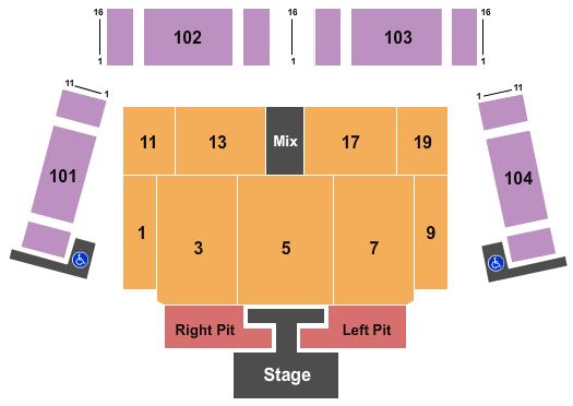 Lake Tahoe Outdoor Arena at Harveys Floor Plan