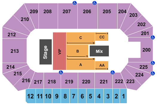 Heartland Events Center seating chart event tickets center