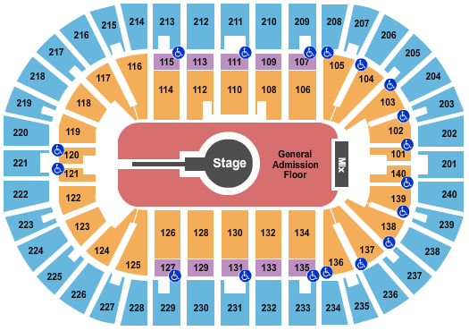 Heritage Bank Center Foo Fighters seating chart - eventticketscenter.com