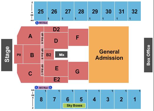 Hersheypark Stadium Floor Plan